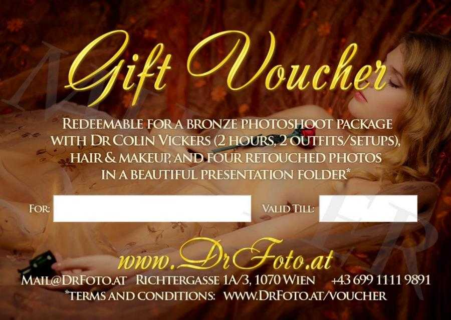 Bronze Photoshoot Package Gift Voucher - Back