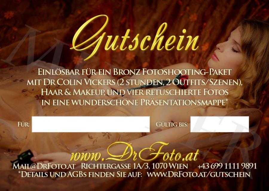 Bronze Fotoshooting-Paket Gutschein Rückseite